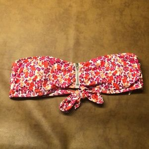 Hurley Zipper Front Floral Tube Top